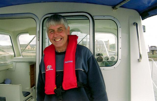 Laurence on board the Dawn Star II